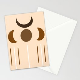 Four Moon Tribe - Minimal Moon Shapes Stationery Cards