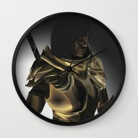 skyrim Wall Clocks featuring Skyrim Armor by J.A.C