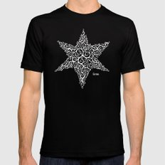 David's Star Mens Fitted Tee MEDIUM Black