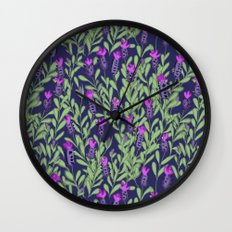 April blooms(Lavender_blue) Wall Clock