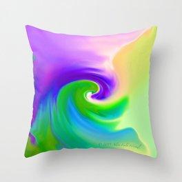 """""""Summer Garden #14"""" Print Throw Pillow"""