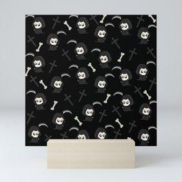 Cute Grim Reaper Pattern Mini Art Print