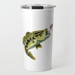 Largemouth Bass Whisperer Funny Fishing Gift Travel Mug
