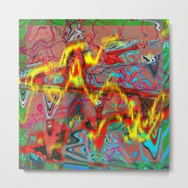 Oscillating Shapes I Metal Print