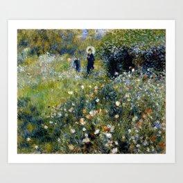 """Auguste Renoir """"Femme avec parasol dans un jardin"""" Art Print"""