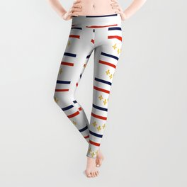 flag of new orleans,NOLA, Crescent City,Big Easy, Nawlins, jazz,Lousiana,french,cajun,treme Leggings