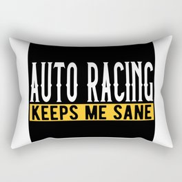 Car Racing Gift Idea Design Motif Rectangular Pillow