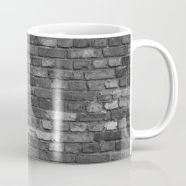 Build the wall brick wall texture vintage with gray black bricks pattern Coffee Mug