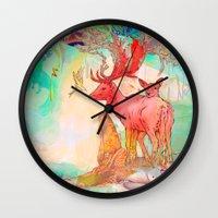 archan nair Wall Clocks featuring Rebirth by Archan Nair