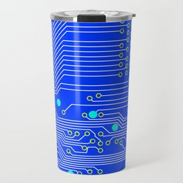 Blue Circuit Board  Travel Mug