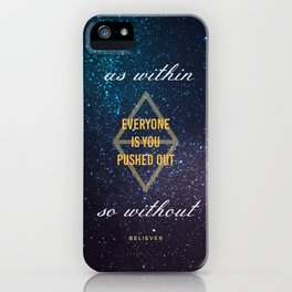 Everyone Is You Pushed Out iPhone Case