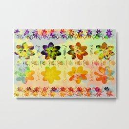 flower flip Metal Print