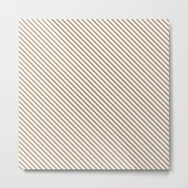 Iced Coffee Stripe Metal Print