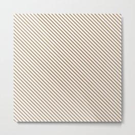 Iced Coffee Stripe Metal Print