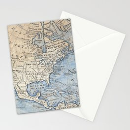Vintage Map of North America (1747) Stationery Cards