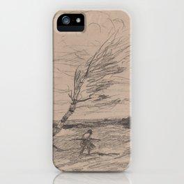 The Gust of Wind (Le Coup de Vent),1871 iPhone Case