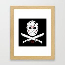 Jason mask Framed Art Print