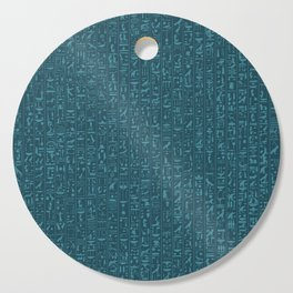 Hieroglyphics Moonstone BLUE / Ancient Egyptian hieroglyphics pattern Cutting Board