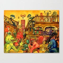 A Town Called Morteville Canvas Print