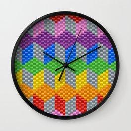 BLOCK PATTERN Kandi Pattern Wall Clock