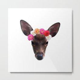 Decorated Deer | White Metal Print