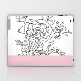 VESSEL - Floral Ink in Pink - Cooper and Colleen Laptop & iPad Skin