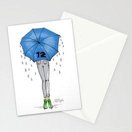 12th Man Umbrella // Fashion Print Stationery Cards