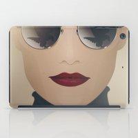 ferrari iPad Cases featuring Ferrari Girl by Seventy Two Studio