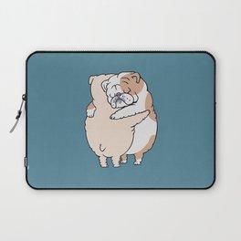English Bulldog Hugs Laptop Sleeve
