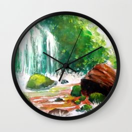 Falling down. Wall Clock