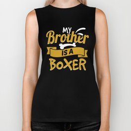 My Brother Is A Boxer Biker Tank