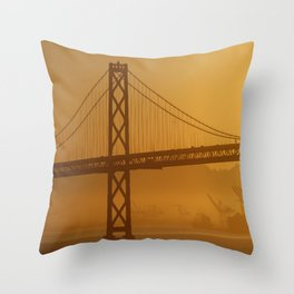 Stunning California Golden Sunrise Throw Pillow