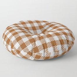 Saddle Brown Buffalo Plaid Floor Pillow