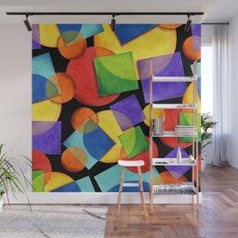 Candy Rainbow Geometric Wall Mural