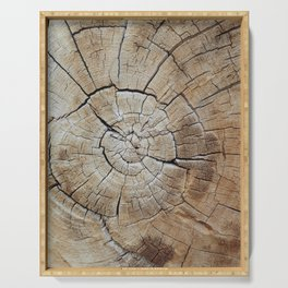 Tree rings of time Serving Tray