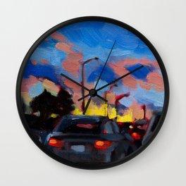 Homeward Skies Wall Clock