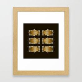 Gold Black Geometric Design Framed Art Print