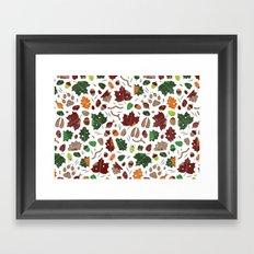 Forest floor tile pattern Framed Art Print