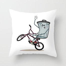 Wheelie Bin Throw Pillow
