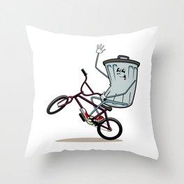 Wheelie Bin Throw Pillow