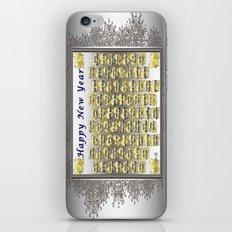 Happy New Year iPhone & iPod Skin
