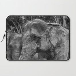 Asian Elephant-The Same But Different_B&W Laptop Sleeve