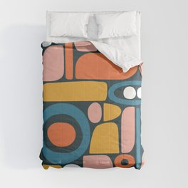 rainbow shape collage Comforters
