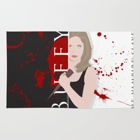 buffy the vampire slayer Area & Throw Rugs featuring Buffy, the vampire slayer by Rose's Creation