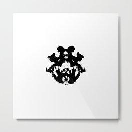 Black Rorschach inkblot Metal Print