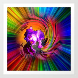 Abstract in perfection - Fertile Imagination Art Print
