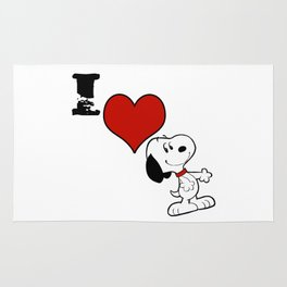 snoopy happy Rug