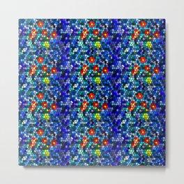 Mosaic Blue and Green  Metal Print