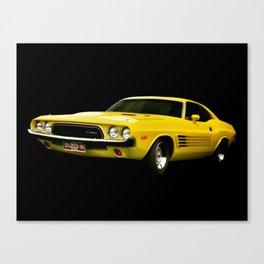Dodge Challenger - Yellow Canvas Print