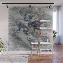 Artistic Animal Doves Wall Mural